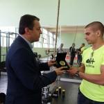 Наградиха европейския шампион по самбо Тихомир Благовестов