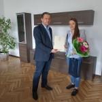 Кметът Иван Иванов се срещна с еврошампиона Виолета Литовска