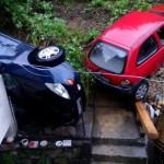 Свлачище помете коли в Габрово (снимки)