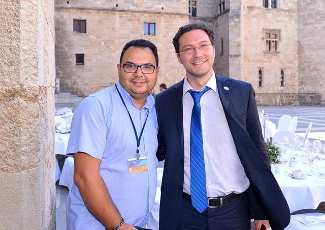 Министър Митов с Кольо Нанев по време на посещението му на остров Родос преди седмици
