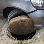 Безобразие! Кола пропадна в шахта на паркинг в Габрово (снимки)