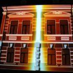 Вижте светлинното шоу върху Интерактивния музей (Видео)