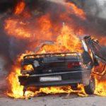 Кола изгоря като факла на пътя Габрово – Севлиево