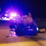 Тревненц открадна кола и се обърна с нея по таван