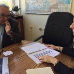 Началникът на РУО и ректорът на среща при Невена Петкова