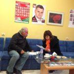 Кристина Сидорова проведе приемен ден и дискусия с партийния актив